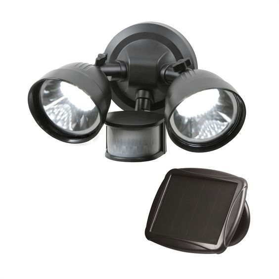 Light Solar Security S/magic 36led Twin Head Blk Snsr Sm21