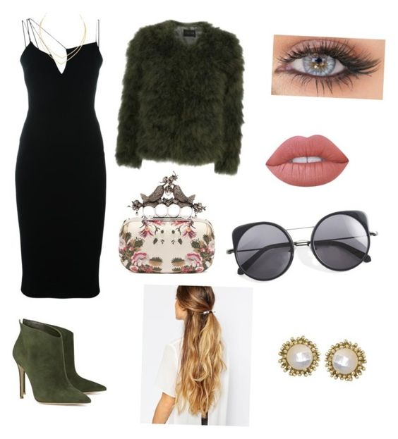 """127."" by holyfuckcharlie ❤ liked on Polyvore featuring Victoria Beckham, Gianvito Rossi, Stine Goya, Lime Crime, Alexander McQueen, Lana, Kendra Scott, Wood Wood and Johnny Loves Rosie"