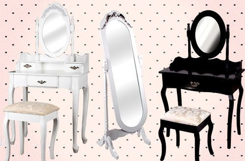 Schminktische und Spiegel