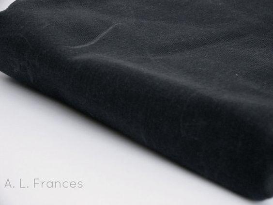 Hand Waxed Cotton Twill Fabric  Onyx 1 Yard by ALFrancesDesigns, $21.00