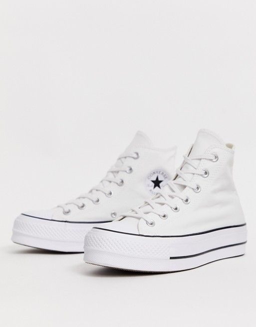 Converse - Chuck Taylor - Hoge sneakers met plateauzool in ...