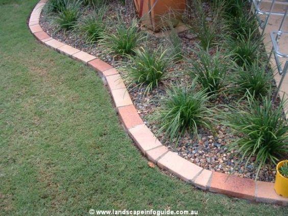 Paver edging ideas clay paver brick edge garden edges for Brick flower garden designs
