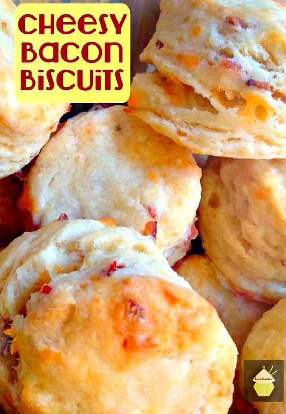 Cheesy Bacon Biscuits. These are a lovely light and fluffy biscuit ...