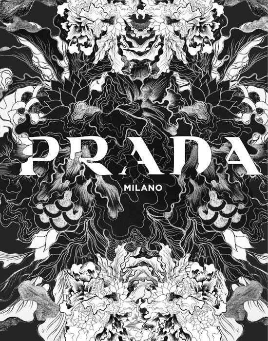 DARYL FERIL, BRANDS IN FULL BLOOM PRADA: whoa - pretty enough to make me love a logo.