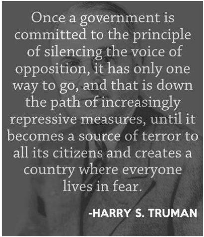 Tri Cities On A Dime: THOUGHT FOR THE DAY - WORDS OF HARRY S. TRUMAN