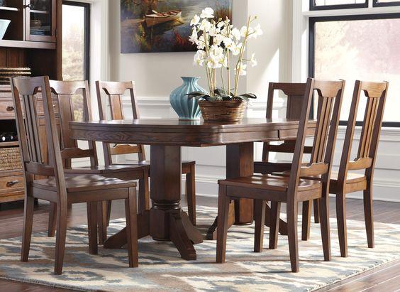 Birnalla 9 Piece Rectangular Extension Table Set By Signature Design Ashley