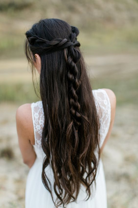 Rope Braid Bridal Hairstyle by Rouge Rosé