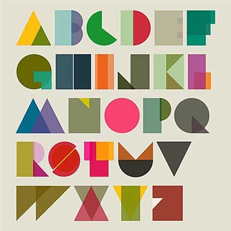 Typography: fat curvy colourful ABC