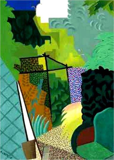 lhote,1916-Le jardin '1916) Huile sur toile (81 x 59)