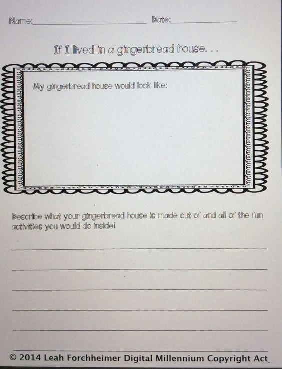 What would life be like to live in a gingerbread house? FREEBIE http://www.teacherspayteachers.com/Product/Winter-Writing-1606821#