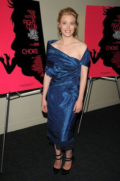 Gillian Jacobs at the premiere of Choke wearing Peter Som, 2008.