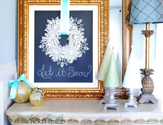 Snowflake wreath snowflakes and dollar tree on pinterest for Craft paper dollar tree