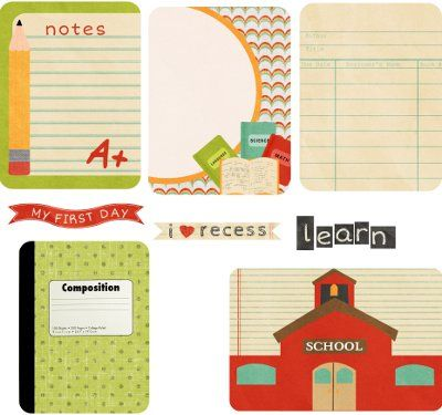 FREE Back to School  Project Life Printables