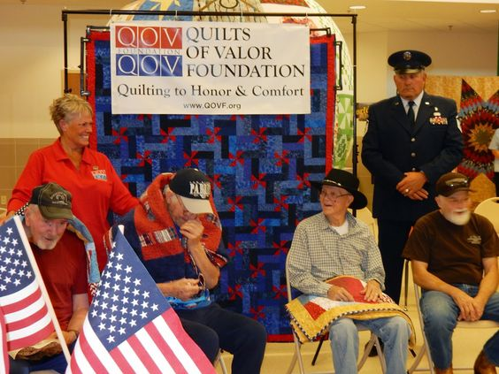 Quilts of Valor presentation...
