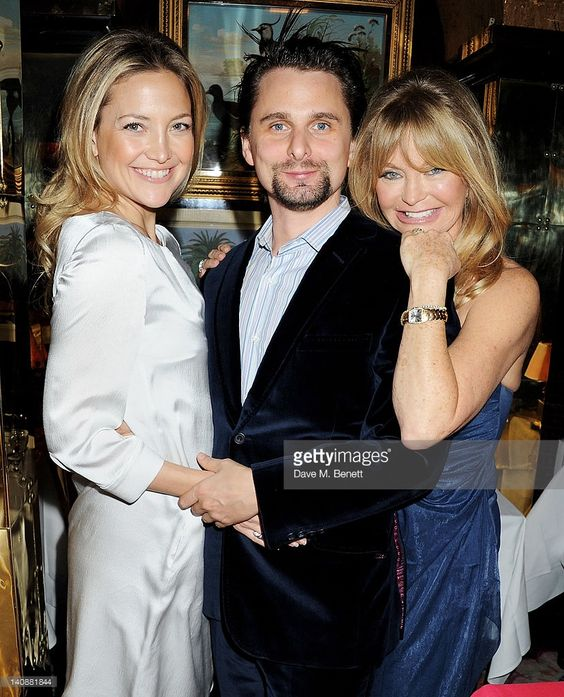 Kate Hudson, Matt Bellamy and Goldie Hawn attend the Hawn Foundation UK launch event hosted by Goldie Hawn at Annabels on March 7, 2012 in London, England.: