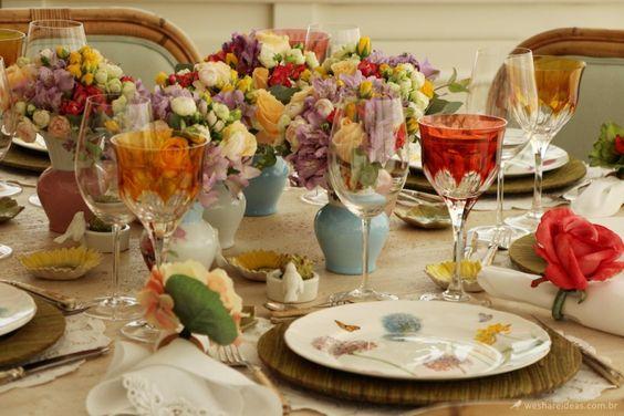 mesa em tons pastel/ pastel tablescape