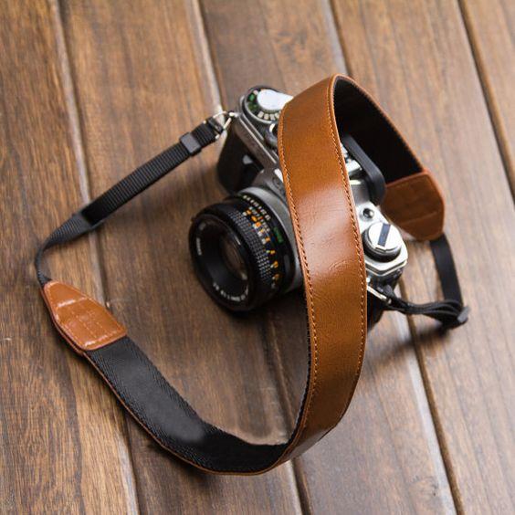 canon camera strap brown leather dslr camera strap
