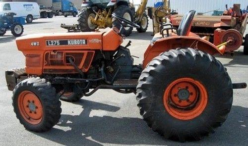 Kubota L235 L275 Tractor Operator Manual Download Service Manuals Club Kubota Tractors Owners Manuals