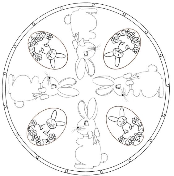 coloriage mandala de p ques lapin recherche mandalas et art. Black Bedroom Furniture Sets. Home Design Ideas