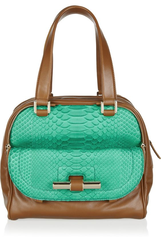 JIMMY CHOO  Justine leather and python tote  £2,054.94
