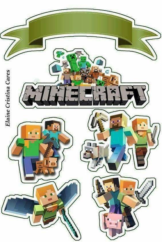 Topo De Bolo Minecraft Modelos De Tags Para Imprimir Mimo Kids