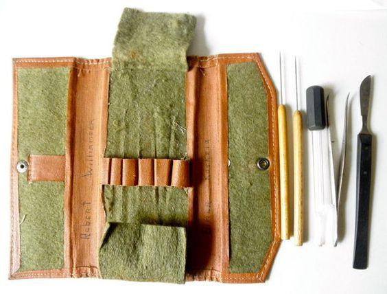 SOLD! Vintage Botanist or Biologist Field Dissection Kit by JackpotJen, $29.00