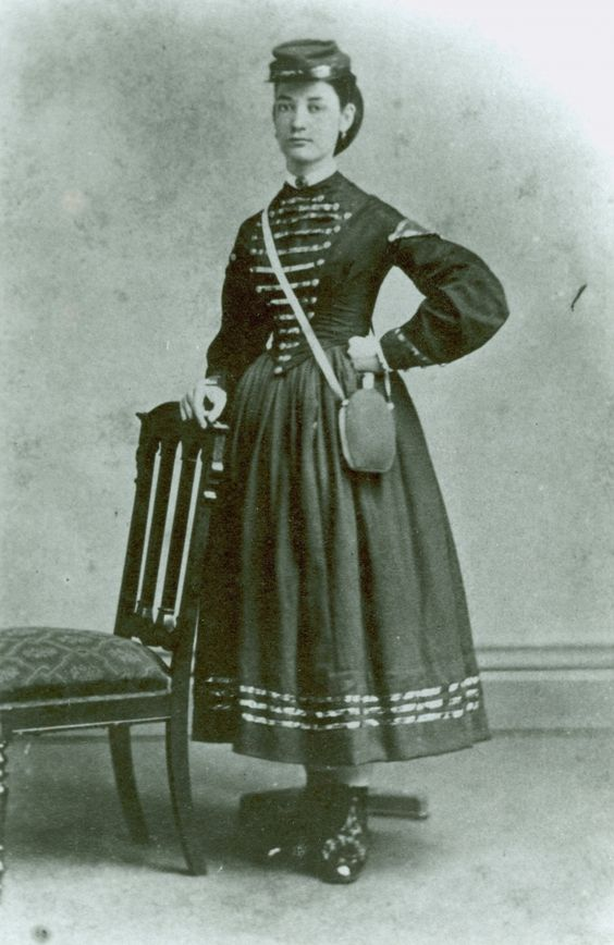 Seeing a woman in the midst of the hotly contested Civil War battlefield of Spotsylvania surprised the veteran officer of the 8th Ohio Infantry Regiment! Seeing her in uniform - a Zouave uniform at that - astonished him all the more. She was the famous Vivandiere, Marie Tepe, who served with in the 114th Pennsylvania Volunteer Infantry Regiment.