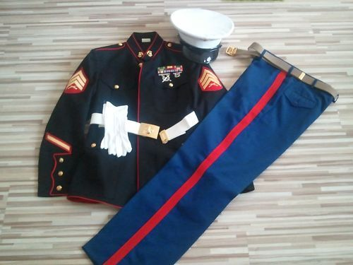 """Semper Fi"" USMC Dress Blues Uniform Wedding Tux: Marine Corps"