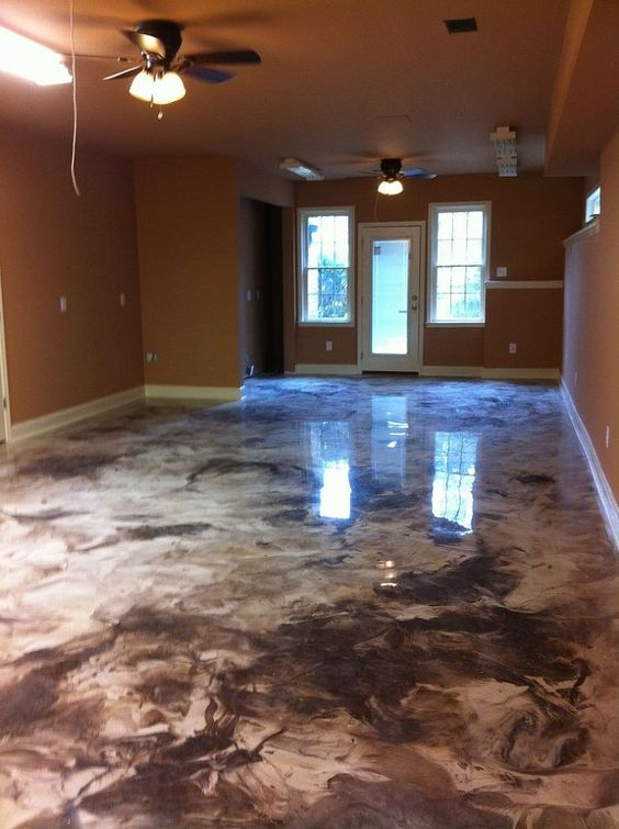 Colors the o 39 jays and floors on pinterest for Concrete flooring ideas