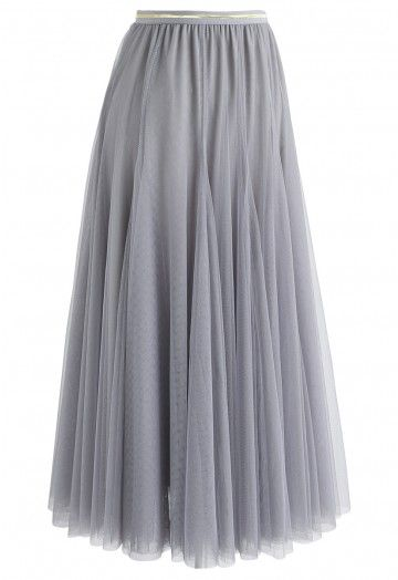 My Secret Weapon Tulle Maxi Skirt in Grey - Skirt - BOTTOMS - Retro, Indie and Unique Fashion