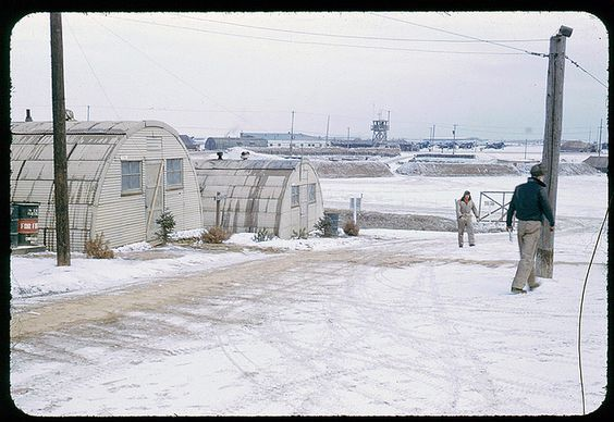 K6 Air Base in winter during Korean War