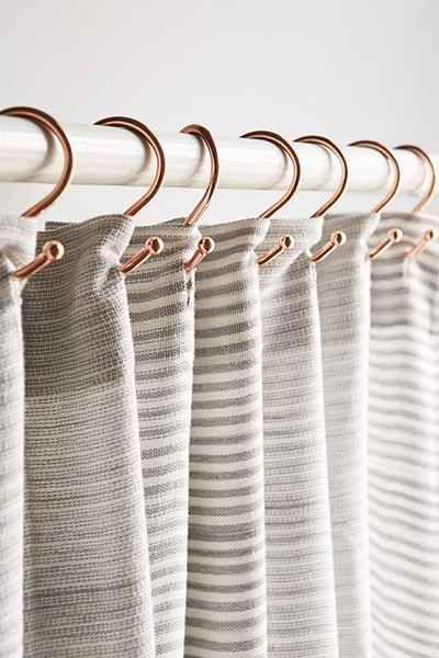 Ensemble de crochets de rideaux de douche en cuivre