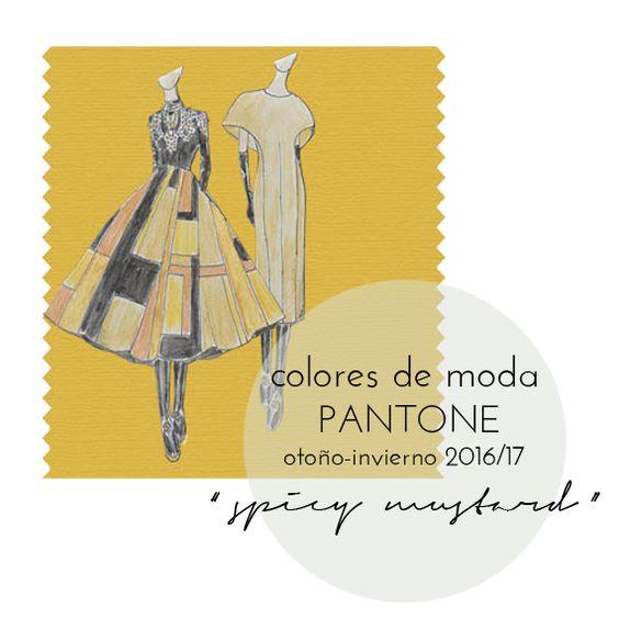 """Colores de moda Pantone otoño invierno 2016-17: """"spicy mustard"""""""