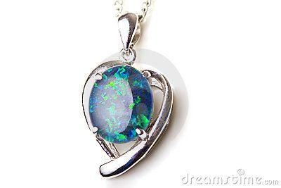 Corazón pendiente de plata de piedra del ópalo de la joyería elegante