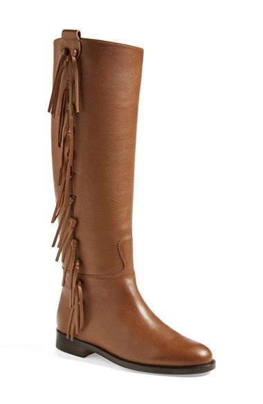 Valentino Fringe Riding Boot (Women) available at #Nordstrom