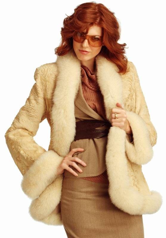 Fox Fur Trimmed jacket. 17-7-2.jpg 557×800 pixels