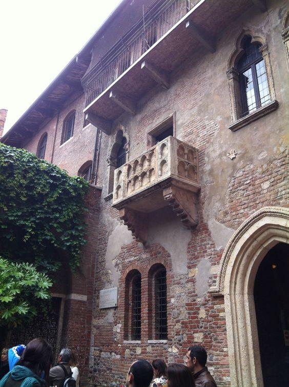 Verone, le balcon Roméo et Juliette