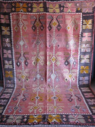 Perfect Turkish Antique Anatolian Hand Woven Nomadic Kilim Rug Ebay