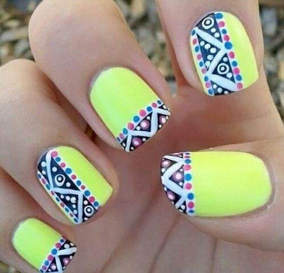 Cute pattern with some neon.