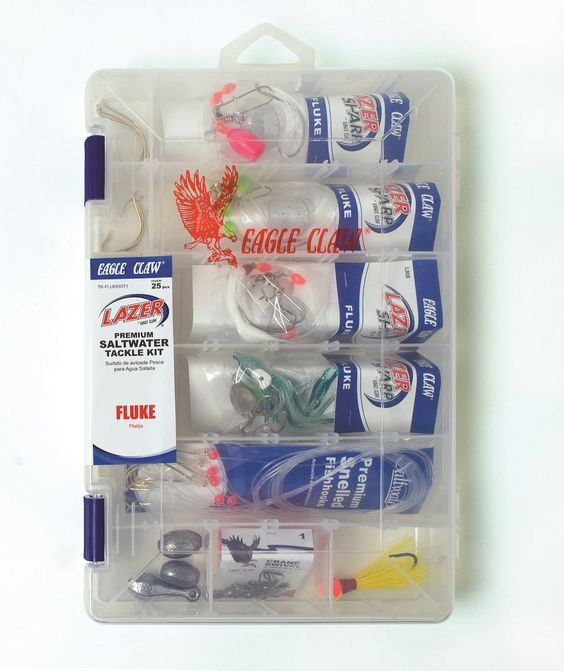 Eagle Claw Lazer Sharp Fluke Saltwater Tackle Kit, 30 Piece ** Be sure to check out this awesome product.