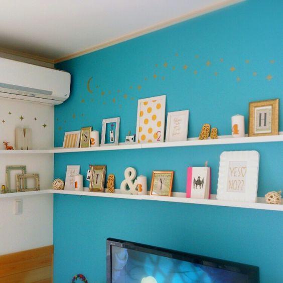 Yukanenkoさんの、フライングタイガー,IKEA,カラフルな部屋,squ ウォールステッカー,squ ,壁/天井,のお部屋写真
