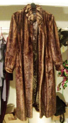 NEW! NEVER WORN Pamela McCoy Full Length Faux Mink Coat | Stuff to