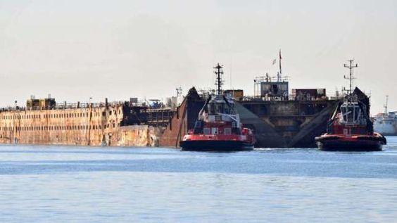 Die Costa Concordia wird im Hafen von Genua endgültig verschrottet