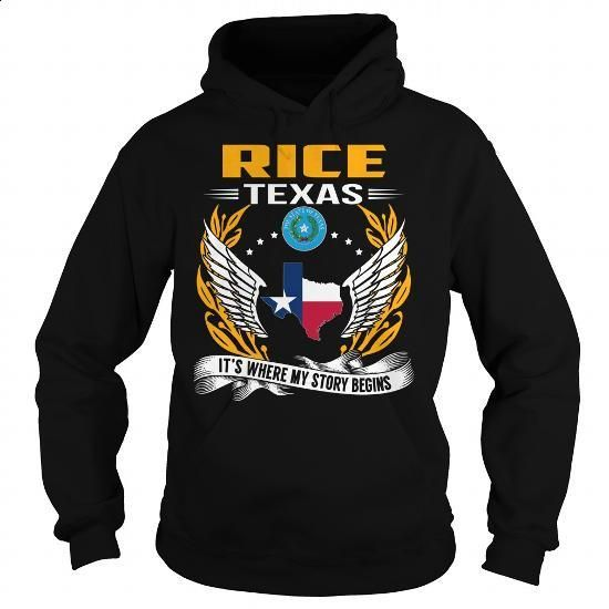 Rice, Texas - Its Where My Story Begins - #tees #denim shirts. GET YOURS => https://www.sunfrog.com/States/Rice-Texas--Its-Where-My-Story-Begins-101236981-Black-Hoodie.html?id=60505