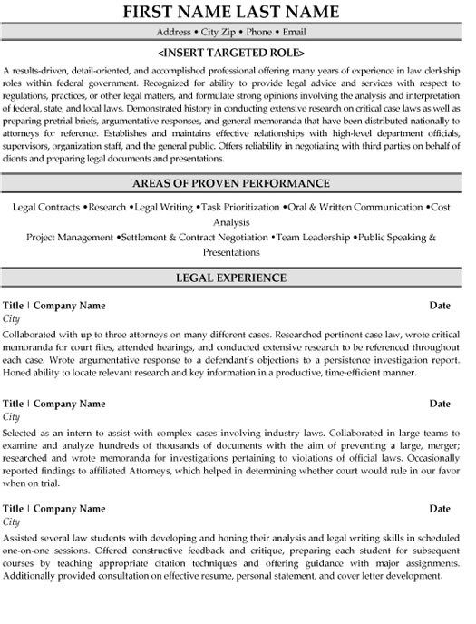 Great Free Legal Cv Template Gallery