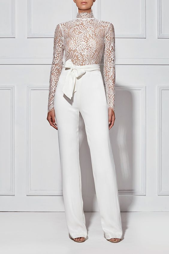 ALLEGRA LACE PANTSUIT - Shop: