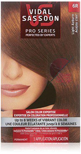 Vidal Sassoon Pro Series Hair Color, 6R Light Auburn, 1 Kit