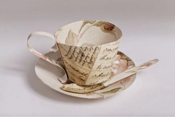 tazas de papel - cecilia levy