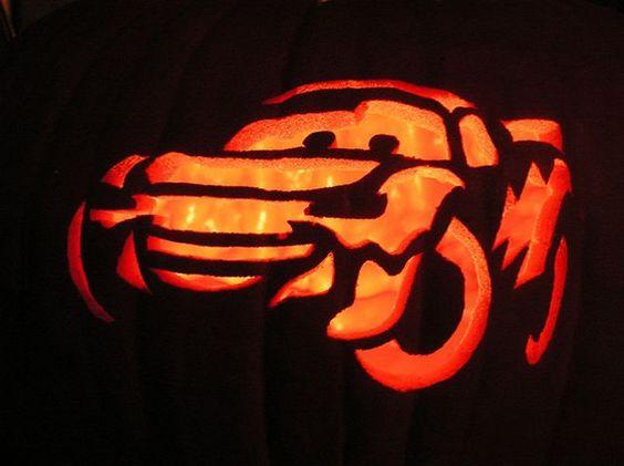 lightning mcqueen cars pumpkin easynip pumpkins