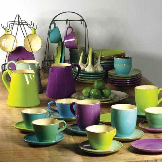 Italienische Keramik Becher in 6 Farben